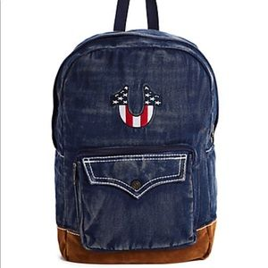 True Religion American Flag Backpack NWT